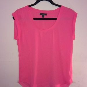 J Crew Short Sleeve Pink Top Blouse Size 2